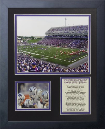 Legenden Sterben Nie Kansas State Wildcats Bill Snyder Familie Fußball Stadion gerahmtes Foto Collage, 11x 35,6cm