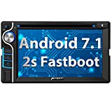 "Pumpkin 2 DIN Autoradio Android 7.1 con 6.2"" Pantalla GPS Reproductor DVD soporta Bluetooth/USB / WiFi/Mirror-Link / 3G / SD/AV-out"
