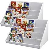 Yahee 2-teilig Kartenständer Postkartenständer Kartenhalter jede 4 Fächer