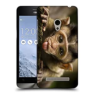 Snoogg Teasing Monkey Designer Protective Back Case Cover For ASUS ZENFONE 6