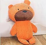BANCN Denti duri per animali da compagnia in peluche Pulizia da matti giocattoli per piccoli cuccioli (arancione) per animale domestico