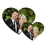 Schilderfeuerwehr Wanduhr in Herzform mit Foto individuell selbst Gestalten und Bedrucken Lassen ✓ 25cm x 20cm ✓ Wohnzimmeruhr ✓ Küchenuhr