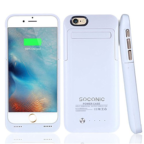 official photos a39b9 a2eda [With A Screen Protector] iPhone 6 / 6s Battery Case, Soconic Ultra Slim  Extended Battery Case for iPhone 6/ iPhone 6s (4.7 inch) with 3500mAh ...