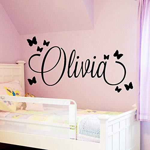 Adesivi murali personalizzati per bambini di grandi dimensioni nome personalizzato adesivo murale materiale per bambini ragazze ragazzi camera da letto decorazione murale 43 * 81cm
