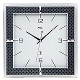 AMS Wanduhr, Holz, Weiß, 35 x 35 x 12 cm