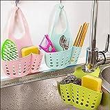 Generic Pink: tragbar Aufhängen Ablauf Tasche Korb Bad Aufbewahrung Tools Waschbecken Zahnbürstenhalter Badezimmer Zubehör-Halterung Seife Küche Gericht Reinigungstuch