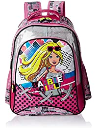 Barbie Polyester 16 Inch Multi color Children's Backpack (Age group :6-8 yrs)