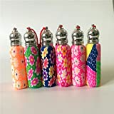 Generic 10ml, Mix Color, Glass : 20pcs/lot 10ml Mini Roll On Bottle For Essential Oils Roll-on Refillable Perfume...