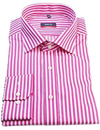 ETERNA Herren Langarm Hemd Modern Fit pink (lipstick) / weiß gestreift 4723.52.X177