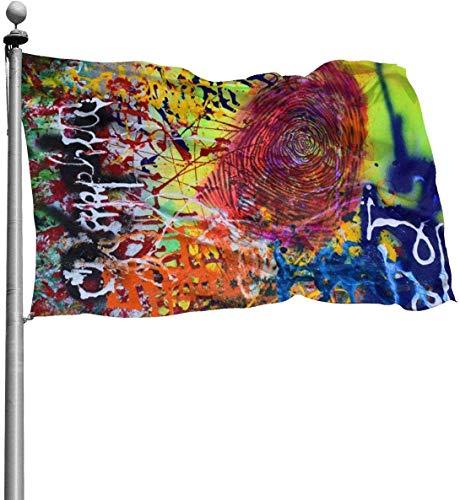 N/A American Guard Flaggenbanner Hallo Flaggen, indische Sprache, langlebig, für den Innenbereich, für Festivals, Terrasse, Party, Dekoration, 91 x 152 cm