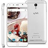 "Umi Touch - 4G LTE Smartphone Libre Multitáctil Android 6.0 (Pantalla HD 5.5"", 1.5GHz Octa Core, 3GB RAM 16GB ROM, 13.0MP Cámara, GPS, WIFI, Touch ID, Dual SIM) (Plateado)"