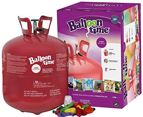 Bombona de helio para inflar globos de látex o poliamida (foil - milar). Con capacidad para 50 globos de 23 cm,el número de globos que se pueden llenar varía según el tamaño que les demos. de diámetro. En la caja encontrará incluidos los 50 globos en...