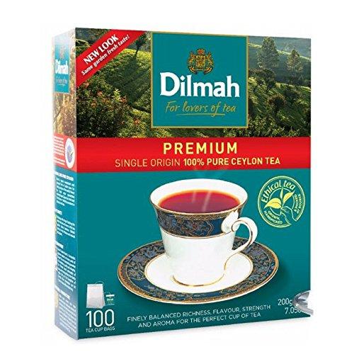 Dilmah Premium Single Origin Schwarzer Tee - 100 Teebeutel - Feinster reiner Ceylon Sri Lanka Schwarzer Tee