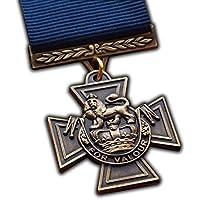 Victoria Cruz Medalla de British alta UK Premio Repro Naval de la Royal Navy Personal Premio para notorio valentía a | Ejército | Azul Marino | RAF | RM | SBS | para reproducción de alta calidad