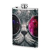 Tumblr Cat-Flachmann, Taschenflasche, 227 ml, tragbar, Edelstahl, Flagon Camping Becher Outdoor Cup...