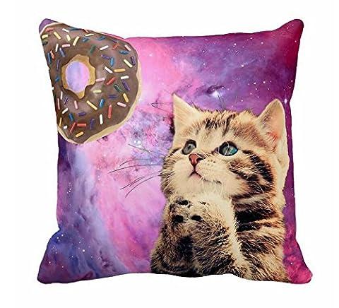 HX-LDS Sleeping Orange Tabby Cat Pillow Case 18x18