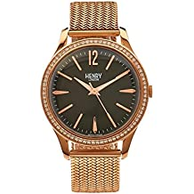 Henry London Richmond Unisex Quartz Watch with Analogue Quartz Stainless Steel HL39 SM 0030 (Refurbished)