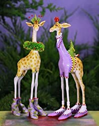 Patience Brewster George & Janet Giraffe Ornaments 08-30908 By Patience Brewster