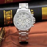 ¡El Mejor Regalo de San Valentín! Beisoug El Mejor anillo Doble de Ginebra SEIS puntadas Muela arenisca El reloj Font Diamond