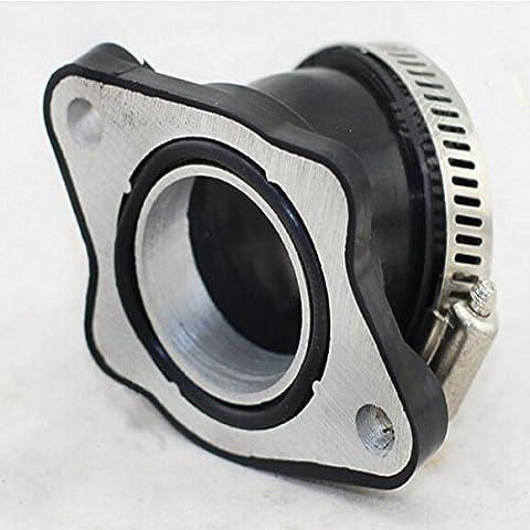 Yongse PE Goma carburador adaptador en ángulo del conector de accesorios de tubería de admisión para la bici de la suciedad de la