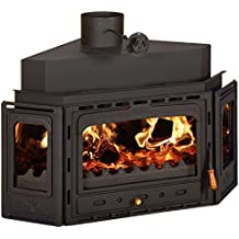 Inserto Wood Burning Fireplace Insert multi Fuel costruito in ghisa porta Prity Аtc