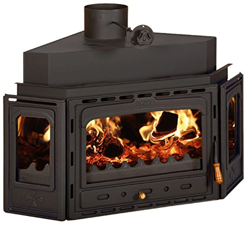 Inserto wood burning fireplace insert multi fuel costruito in ghisa porta prity Аtc