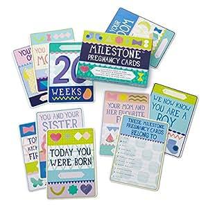 Milestone Cards-Cartes souvenirs Premiers moments de femme enceinte Pregnancy Cards