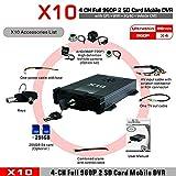 X10S 3G 4G für Android für iOS Leben H.264 AHD 720P CMS-Überwachung bewegliches DVR 4 Kanäle bewegliches DVR für Fahrzeuge