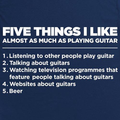 Five Things I Like - Guitar T-Shirt, Herren Dunkelblau