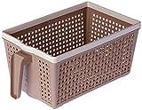 #7: Nayasa Frill No. 1 Plastic Fruit Basket, Small, Beige
