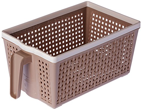 Nayasa Frill No. 1 Plastic Fruit Basket, Small, Beige