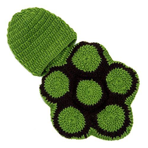 TOOGOO(R) Baby-Kind Nette Schildkroete Crochet Knitting Kostuem Weiche entzueckende Kleider Foto Fotografie Props fuer 0-6 Monate Neugeborene (Weiche Kostüme Grüne)