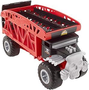 Hot Wheels - Monster Trucks Monster Mover, Camión Transportador de Coches de Juguete (Mattel FYK13)