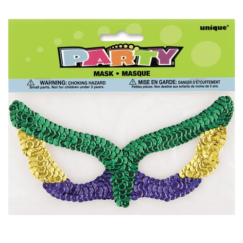 SEQUIN ART Sequin Glitter Fancy Dress Party Eye Mask–Single (Maske/Maske)
