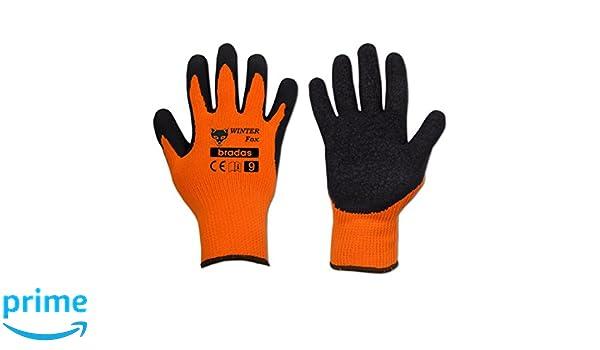 7/x 3/x 3/cm Orange Layflat RWWF11/12/Pairs Winter Work Gloves Latex Size 11