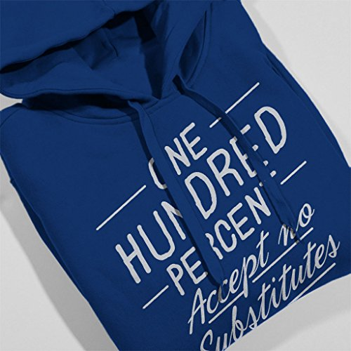 Mambo Accept No Substitutes White Text Men's Hooded Sweatshirt Royal Blue