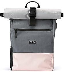 Ela Mo's Rucksack Damen | Schön und Durchdacht | für Uni Reisen Freizeit Job | mit Laptopfach & Anti Diebstahl Tasche | Rosa