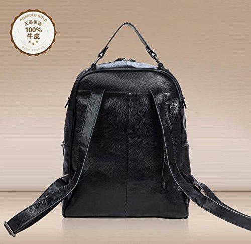 Leder Umhängetasche multifunktionalen Rucksäcke JD Laptop-Taschen Black