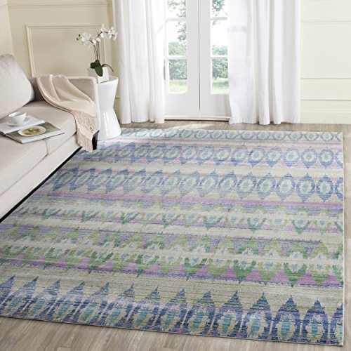 Safavieh Altair gewebter Teppich, VAL220M, Lila / Mehrfarbig, 243 X 304  cm (Safavieh-teppiche Lila)