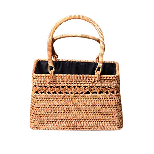 Moderne handgemachte Rattan-Stroh-Handtaschen gesponnenen Ausschnitt-Korb-exotische Rattan-Speicher-Korb-Strandtaschen f¨¹r Frauen-B?hmen-Art (Rattan-speicher-körbe)