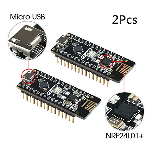 Modul Ide 40-pin (Keywish RF-Nano für Arduino Nano V3.0 Mirco USB Board Integrate nRF24L01 Wireless Module ATmega328P Micro-Controller Board kompatibel mit Arduino Nano V3.0)