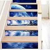 Mitlfuny Black Friay DE Cyber Monday DE,DIY Schritte Aufkleber abnehmbare Treppe Aufkleber Home Decor Keramikfliesen Muster