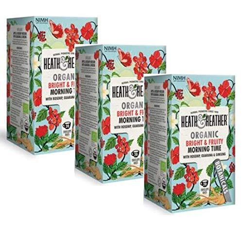 Heath & Heather Infusión Orgánica con manzana, hibisco, guaraná y ginseng - 3 x 20 bolsitas de té (120 gramos)