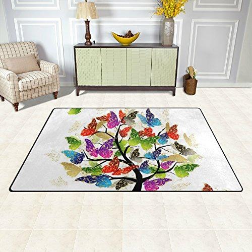 Bennigiry Kunstbaum Bereich Teppich Teppich Rutschfeste Eintrag Bodenmatte Fußmatten für Wohnzimmer Schlafzimmer 152,4 x 416 cm - 3