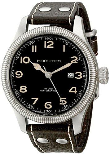 Hamilton Herren Analog Automatik Uhr mit Leder Armband H60515533