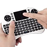 #8: Sufi World® i8 Mouse Multi-Media Portable Handheld Mini Wireless 2.4G LED Backlight i8 Keyboard with Touchpad for Google Android TV Box,HTPC,IPTV,PC,Mac,Pad,Xbox 360,PS3 (White and Black)