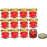 [Sponsored]Pure Source India Scented Mini Jar Candle 30 Gram Each Set Of 12 Pcs Rose Fragrance