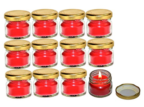 Pure Source India Scented Mini Jar Candle 30 Gram Each Set Of 12 Pcs Rose Fragrance