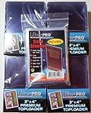 100 Ultra Pro Premium Toploader + 100 Soft Sleeves - Ultra Clear - 4 Packs - 3 x 4 - Top Loader - Magic: The Gathring - Yu-Gi-Oh!