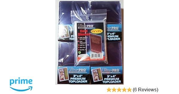 Top Loader 100 Soft Sleeves 100 Ultra Pro Premium Toploader Yu-Gi-Oh! Magic: The Gathring 3 x 4 Ultra Clear 4 Packs